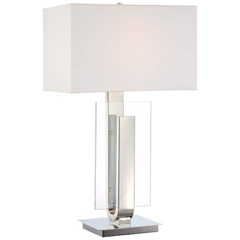 Polished Nickel 1 Light Table Lamp by George Kovacs