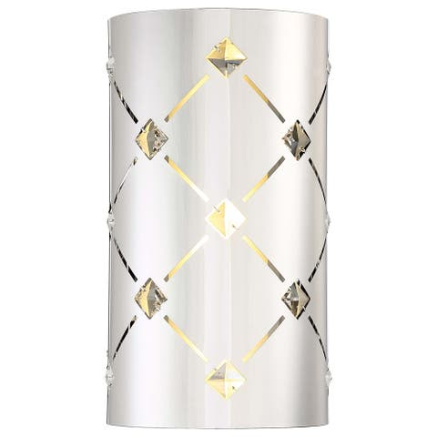 Crowned Chrome Wall Sconce By George Kovacs