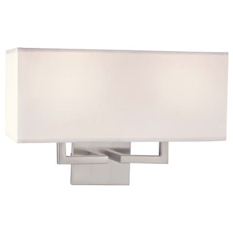 Brushed Nickel 2 Light Wall Sconce By George Kovacs