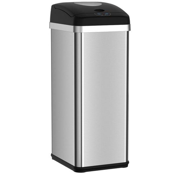 Compactor Trash Can with Automatic Sensor Touchless Lid and Odor-Absorbing Deodorizer