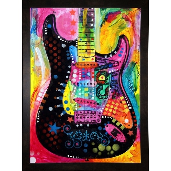 """Lenny Strat Framed Print 14""""x10"""" by Dean Russo"""