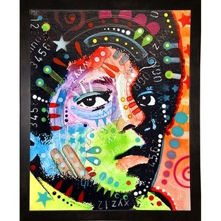 """Michael Jackson Framed Print 7""""x5.5"""" by Dean Russo"""