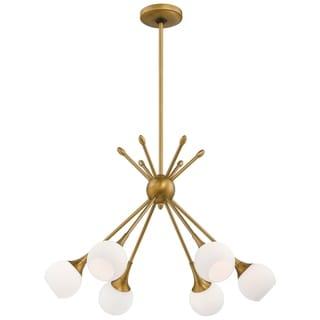 Link to Pontil Honey Gold 6 Light Chandelier by George Kovacs Similar Items in Pendant Lights