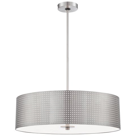 Minka Kovacs Grid 4 Light Drum Pendant
