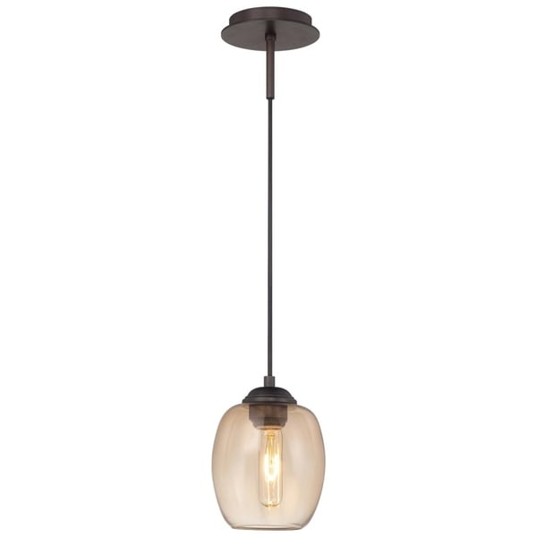 Minka George Kovacs Bubble Copper Bronze Patina Metal/Glass 1-light Mini Pendant Convertible to Wall Sconce