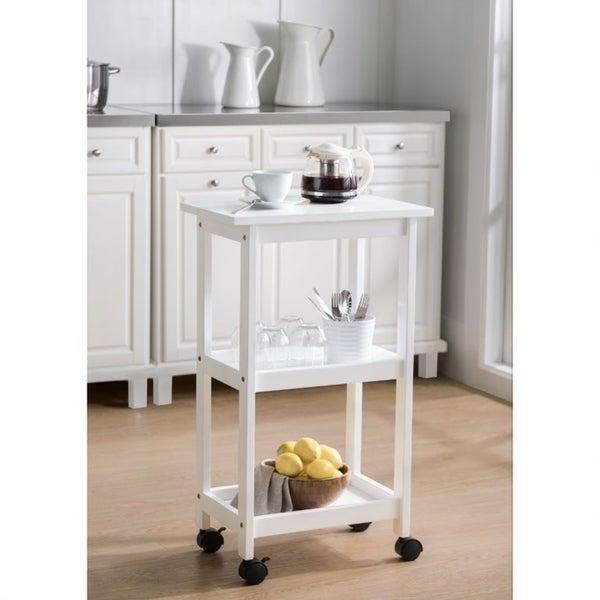 SJ Collection Heathcoat White Kitchen Cart