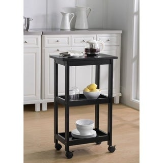 Sunjoy West End Black Kitchen Cart