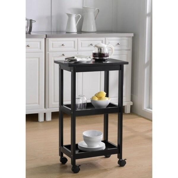 Sunjoy West End Black Kitchen Cart