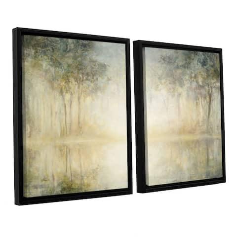Julia Purinton 'Morning Mist' 2-piece Floater-framed Canvas Set