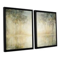 Julia Purinton 'Morning Mist' 2-piece Floater-framed Canvas Set