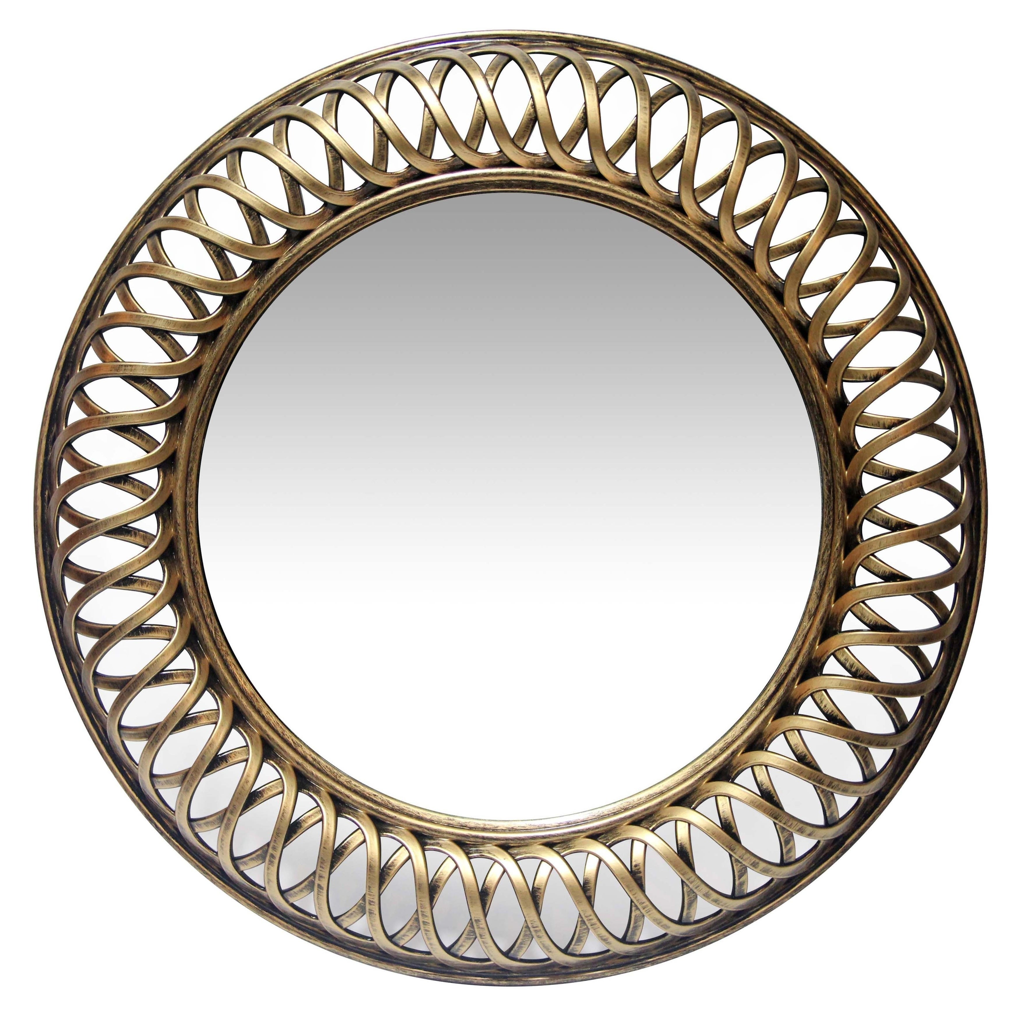 22.75 inch Hand Brushed Wall Mirror Lattice by Infinity Instruments - N/A (Antique Silver - Silver)