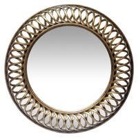 22.75 inch Hand Brushed Wall Mirror Lattice by Infinity Instruments