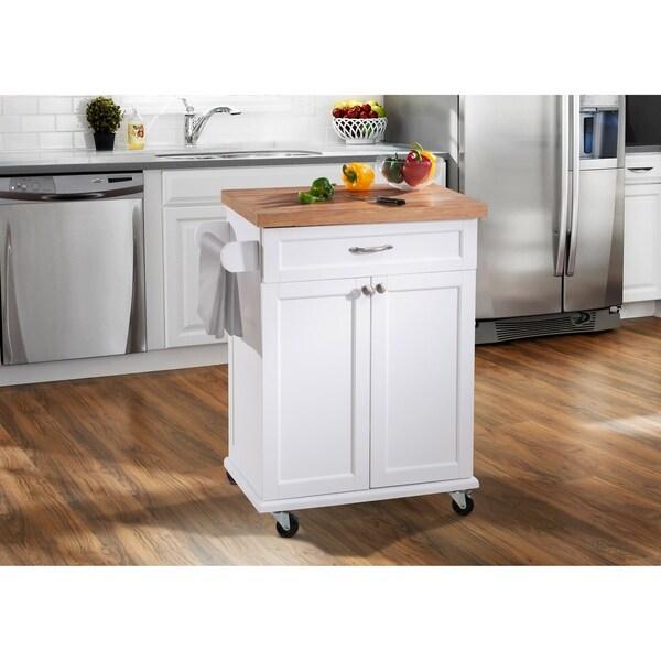 Shop SJ Collection Ashby White Kitchen Cart