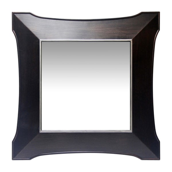 Copper Grove Wentworth 22-inch Antique Walnut Wall Mirror