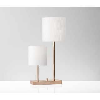 Adesso Aubrey Brushed Copper Table Lamp