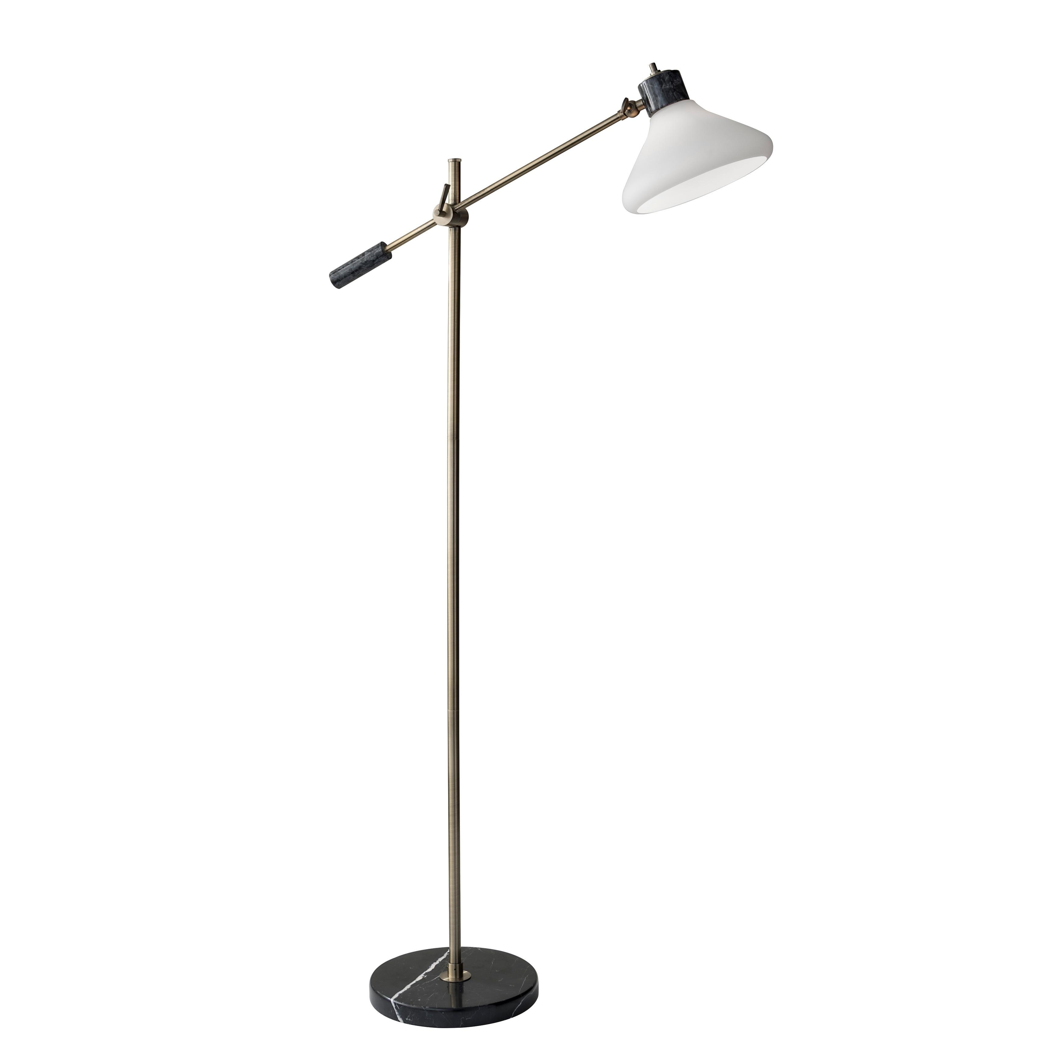 Adesso Astor Floor Lamp, White (Metal)