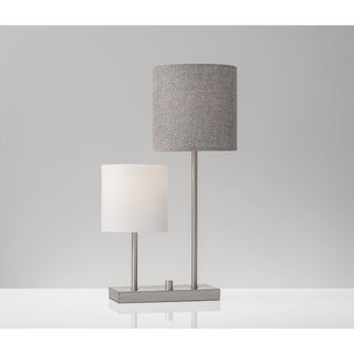 Adesso Aubrey Brushed Steel Table Lamp