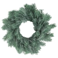 """12"""" Traditional Frosted Green Pine Decorative Christmas Wreath"""