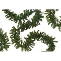 """50' x 10"""" Commercial Length Canadian Pine Artificial Christmas Garland - Unlit"""
