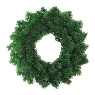 "16"" Decorative Green Pine Artificial Christmas Wreath- Unlit"