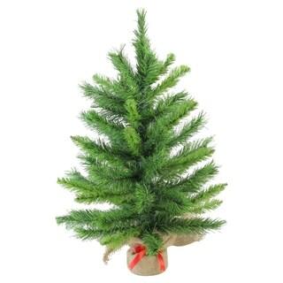 "24"" Mixed Kateson Fir Artificial Christmas Tree in Burlap Base - Unlit"