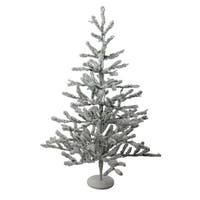 "36"" Flocked Alpine Coral Artificial Christmas Tree - Unlit"
