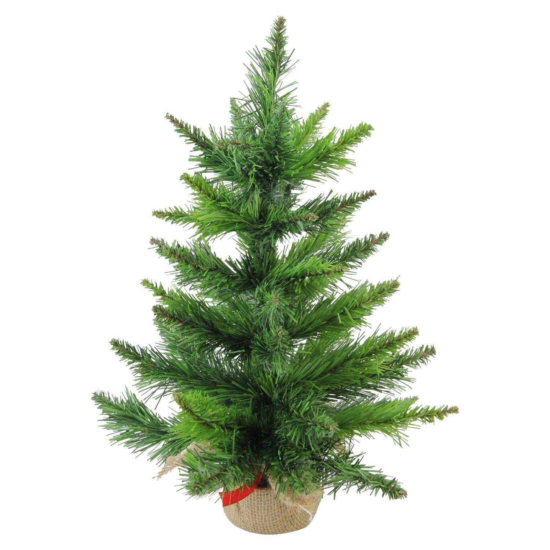 Balsam Christmas Trees.18 Mini Balsam Pine Artificial Christmas Tree In Burlap Base Unlit