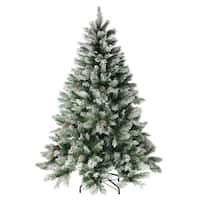 6' Flocked Angel Pine with Pine Cones Artificial Christmas Tree - Unlit