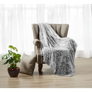Beverly Hills Polo Club Luxury Plush Sculptured Microfiber Throw