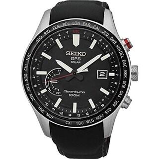 Seiko SSF005 Sportura GPS Solar World Time Perpetual Calendar Watch - Black