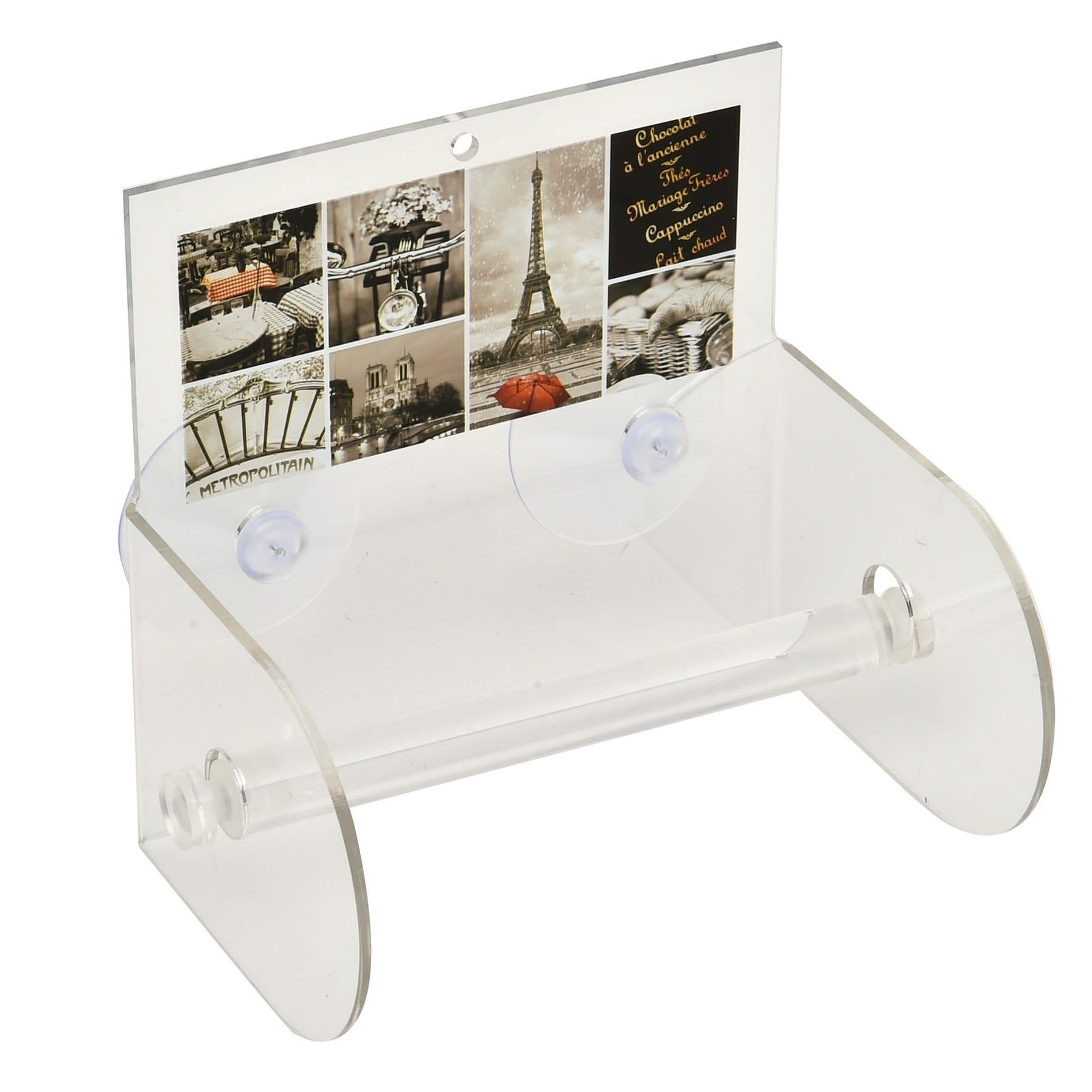 Evideco Cafe Paris Toilet Tissue Paper One Roll Holder Su...