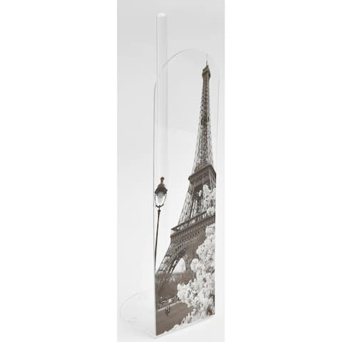 """Evideco Toilet Paper Roll Holder Reserve Paris City 4 Roll - Gray, Black, White, Red - 5.12""""L x 5.12""""W x 18.10""""H"""