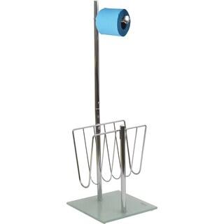Evideco Freestanding Toilet Tissue Dispenser and Magazine Rack