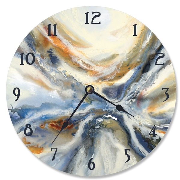 Abstract Geode Red and Blue Vanity Clock