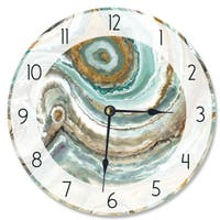 Abstract Geode Teal and Copper Vanity Clock