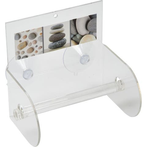 Evideco Belle Ile Toilet Tissue Paper One Roll Holder Suction Mounted