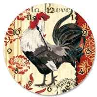 French Kitchen Rooster Vanity Clock