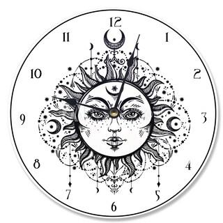 Tarot Black and White Sun Vanity Clock