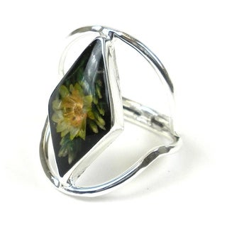 Handmade Nahua Flower Ring - Size 7 (Mexico)