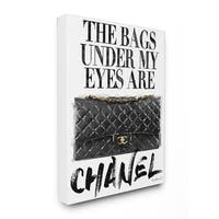 Glam Bags Under My Eyes Stretched Canvas Wall Art