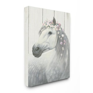 Spirit Stallion Horse w/ Crown Stretched Canvas Wall Art