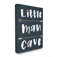 Little Man Cave Arrows Stretched Canvas Wall Art