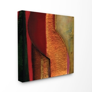 Modern Zig Zag Russet Stretched Canvas Wall Art