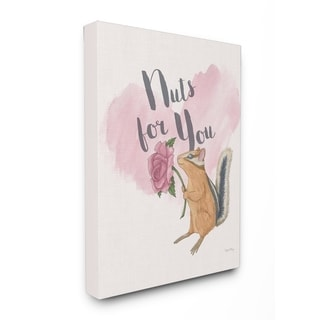 I'm Nuts For You Pink Stretched Canvas Wall Art