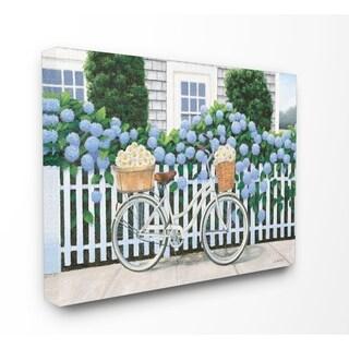 Cape Cod Daisy Bike Stretched Canvas Wall Art
