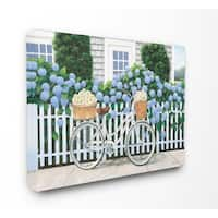 Cape Cod Daisy Bike Stretched Canvas Wall Art