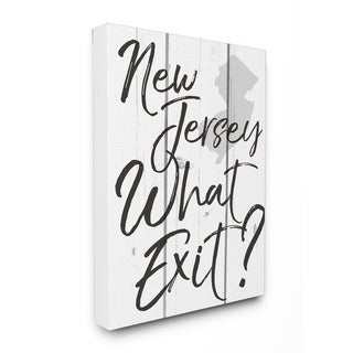 New Jersey What Exit Stretched Canvas Wall Art