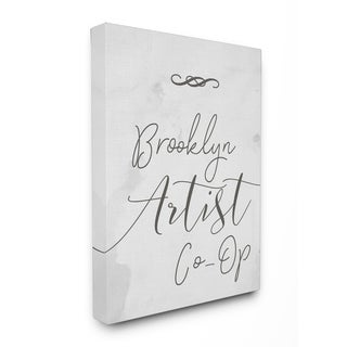 Brooklyn Artist Co-Op Typography Stretched Canvas Wall Art