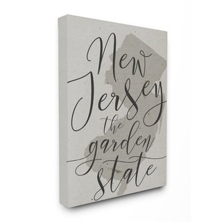 New Jersey Garden State Stretched Canvas Wall Art
