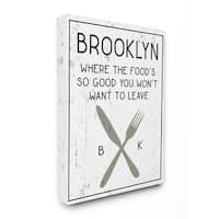 Brooklyn Food Stretched Canvas Wall Art